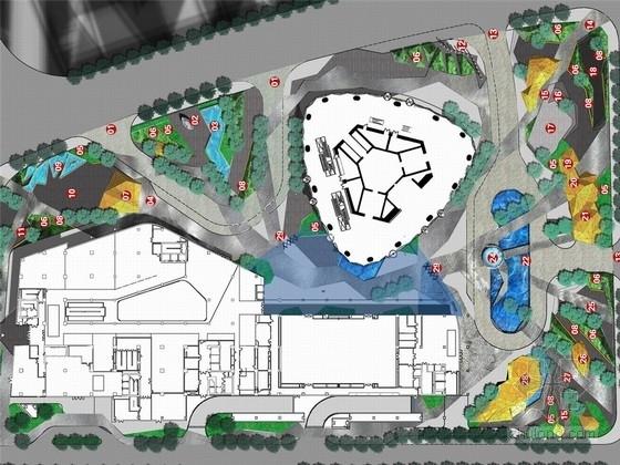 """[广州]""""风中的山脉""""新城地标性建筑周边商业景观规划设计方案"""