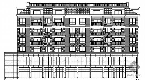 [安徽滁州]某湖心小区2号楼建筑施工图