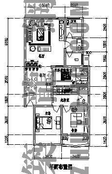 某居室建筑装饰图(两室两厅)