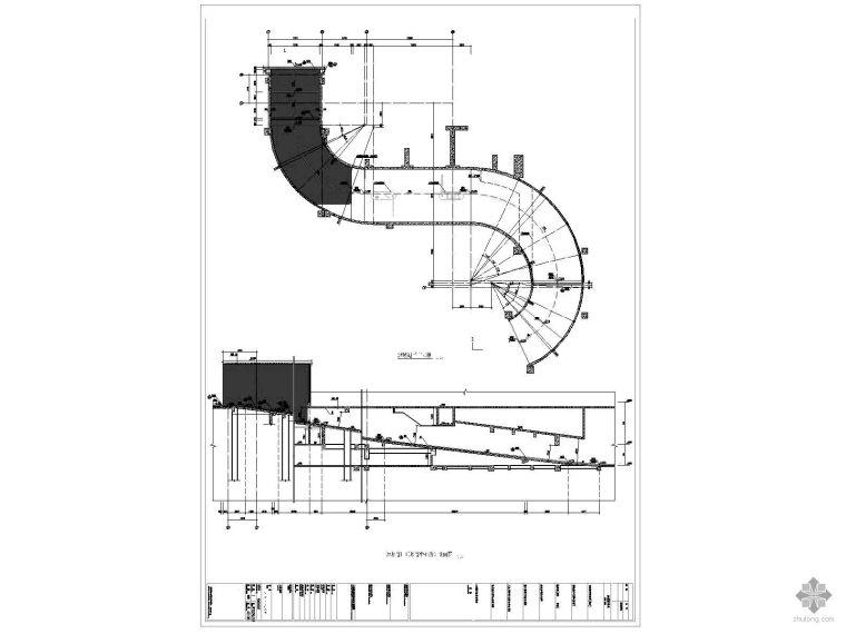 [深圳]某大厦地下车库坡道详图
