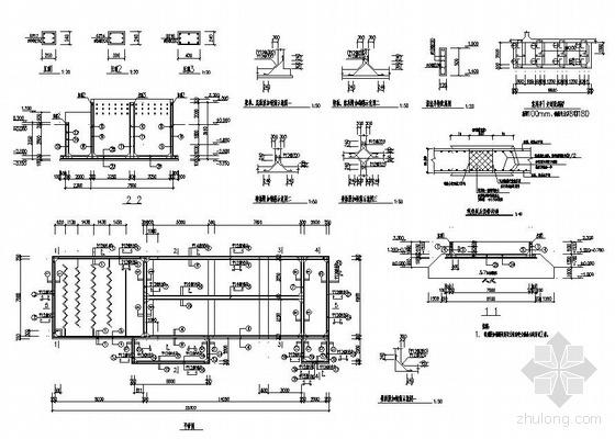 某天然气净化厂施工临时用水取水工程图纸