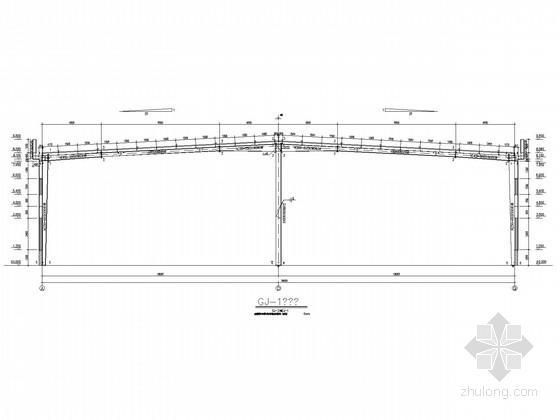 带女儿墙36米门式刚架厂房结构施工图