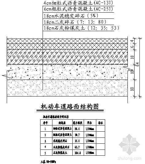 机动车道路面结构图