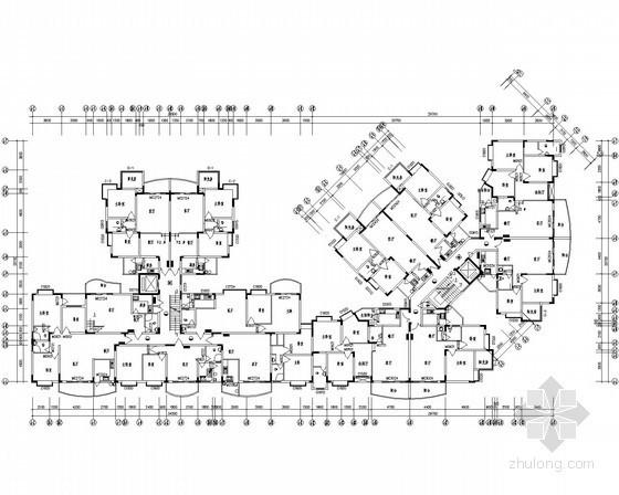 高层住宅楼配电及照明系统施工图纸