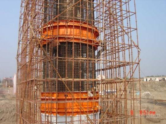 [北京]高速公路主桥墩工程大直径空心墩施工技术-倒模模板拼装图