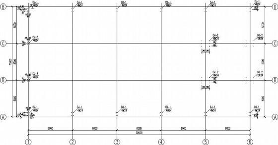 单层局部二层门式刚架售楼部结构施工图