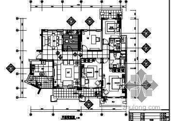 [广东]现代设计施工图样板房(含效果)