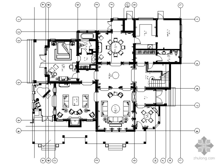 [上海]欧式三层豪华别墅施工图(含效果)
