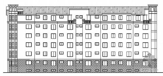 某高档小区六层坡屋顶住宅楼建筑施工图