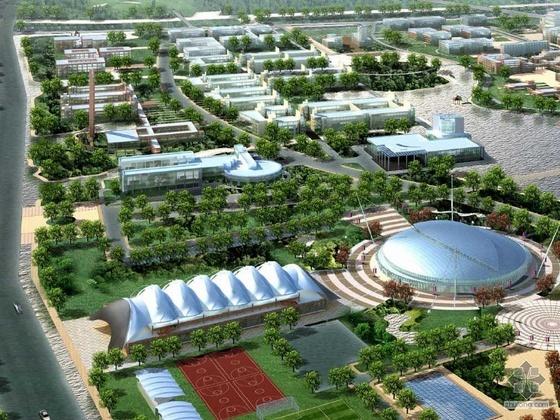 浙江某大学校区文体中心整体规划及体育馆建筑设计文本