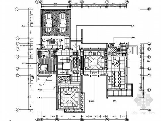 [上海]特色花园双层别墅样板房室内装修图(含实景)