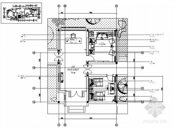 现代中式会所接待厅室内装修图