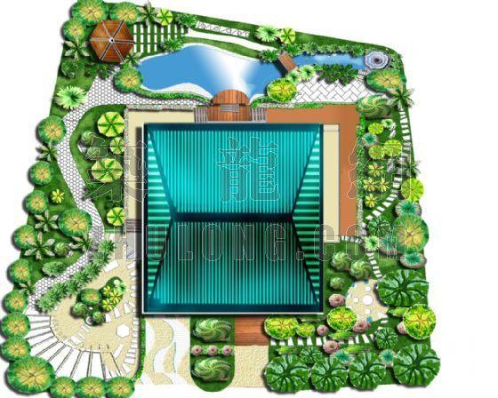 某别墅庭院平面效果图