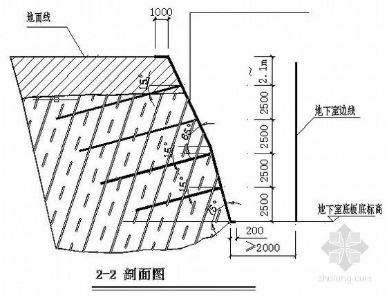 某基坑工程锚杆结构喷锚支护全套设计图