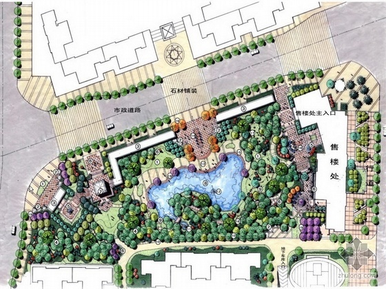 [北京]花园小区一期景观设计方案文本