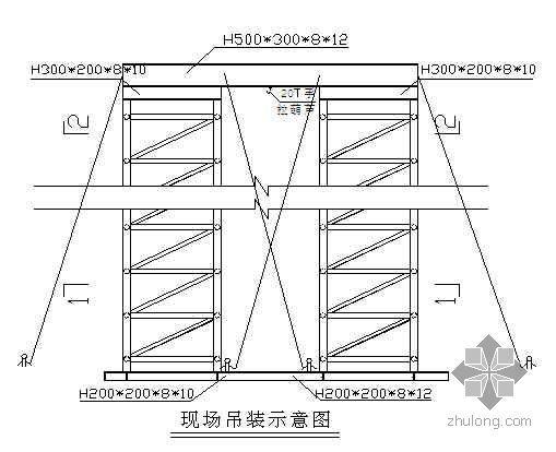 某展览中心大型钢结构安装方案(桁架 龙门架提升)