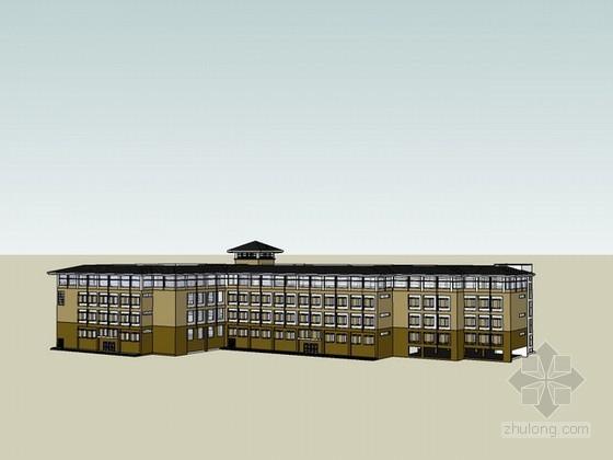 小厂房建筑设计sketchup模型下载