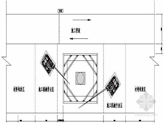 [浙江]某水中墩台承台钢板桩围堰及型钢拼接设计图