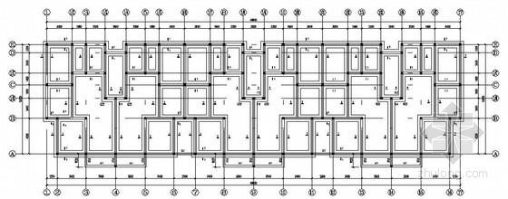 六层砖混医院宿舍楼结构施工图(设计模板)