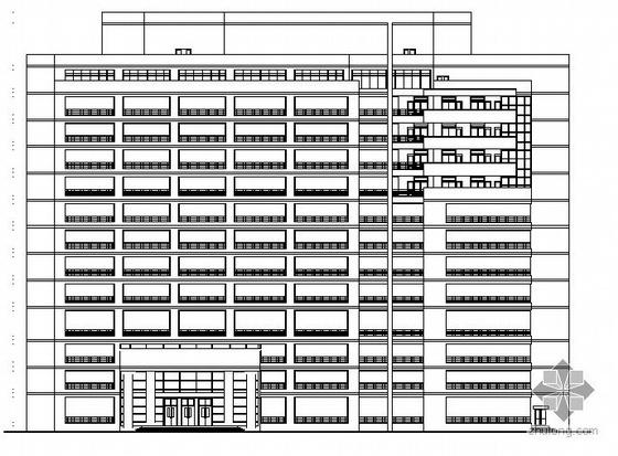 乐山市十三层武警医院住院楼建筑方案图