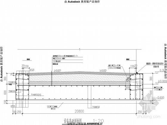 U型槽钢筋构造图资料下载-5000方槽罐基础节点构造详图