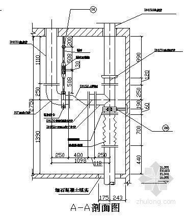 水塔配管放大详图