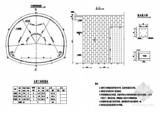 双线分离式隧道成套cad设计图纸