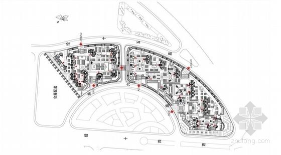[福建]高层大尺度院落塔式沿海住宅建筑设计方案文本-高层大尺度院落塔式沿海住宅建筑平面图