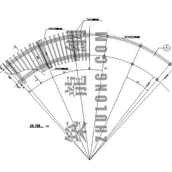 西湖公园弧型花架施工详图