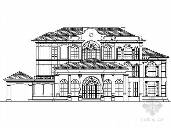 [上海]某三层欧式奢华别墅建筑施工图