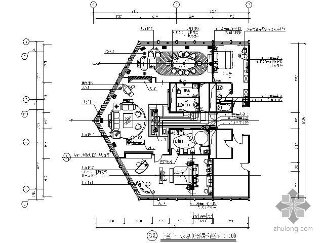 知名酒店总统套房施工图(含家具)
