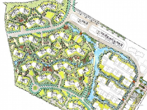 居住区二期环境景观设计图片