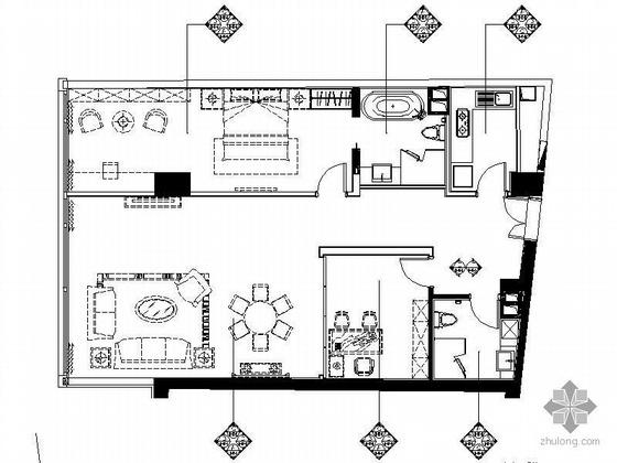 [北京]知名公寓H型精装图