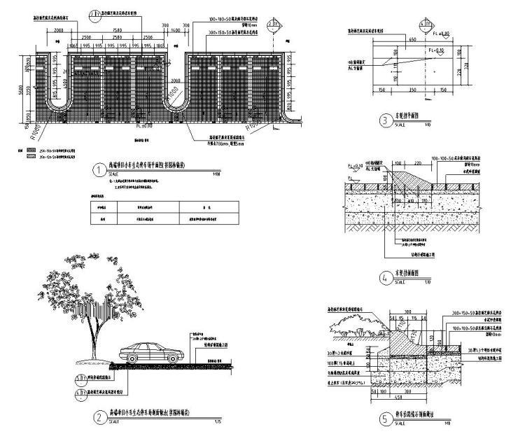 小、大车生态停车场做法标准设计(2017年最新资料)