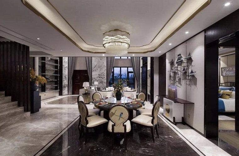 水岸联排新中式别墅样板房案例
