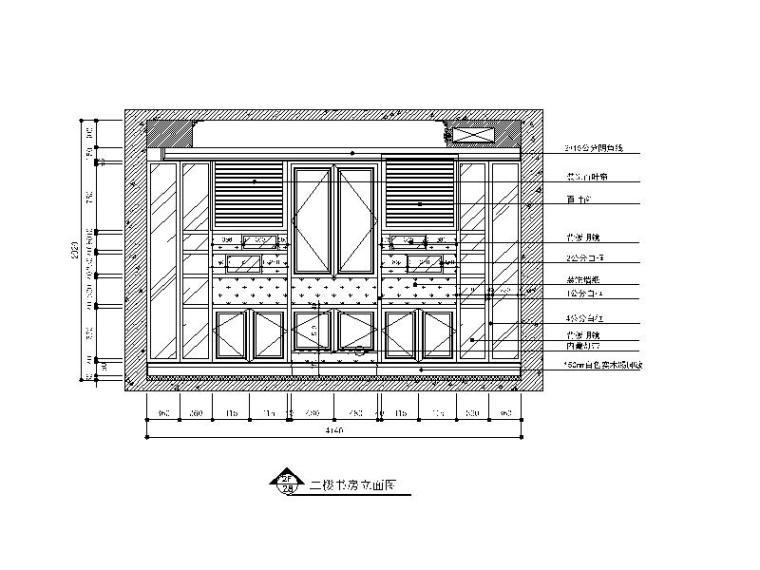【山西】美式风格跃层公寓设计CAD施工图(含效果图)_4