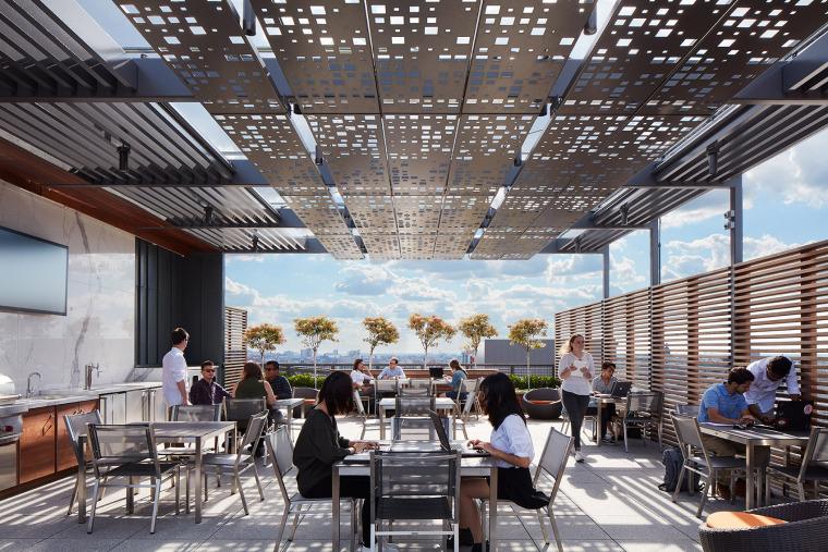 美国600WestChicago屋顶花园-美国600 West Chicago屋顶花园实景图