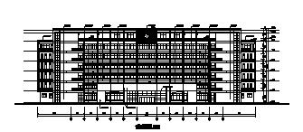 高层框架结构消防大队教学楼施工图