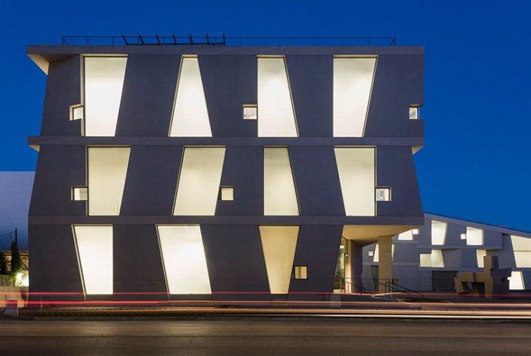 L形艺术学校建筑-1