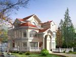 三层欧式风格建筑设计(施工图+效果图)