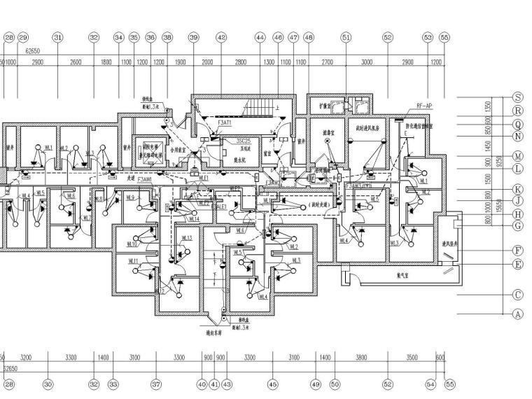 [河北]29层商业楼带人防地下室电气施工图