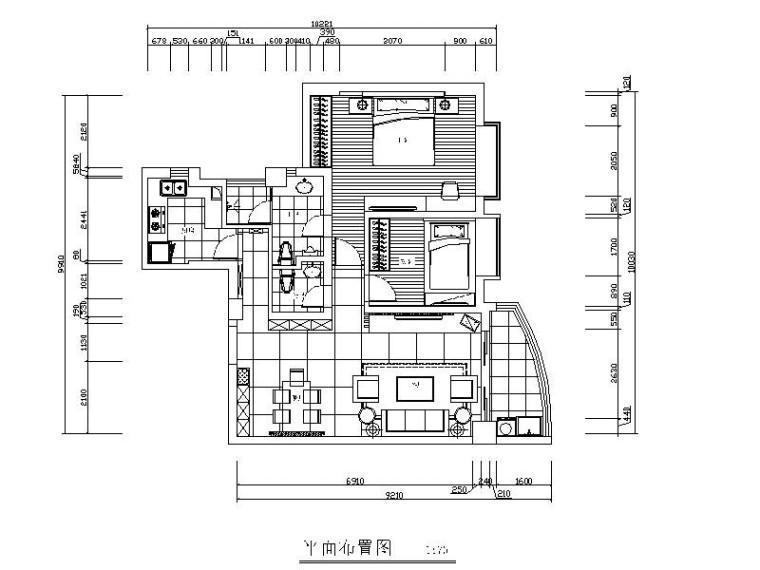 [厦门]现代简约两室一厅住宅室内设计施工图