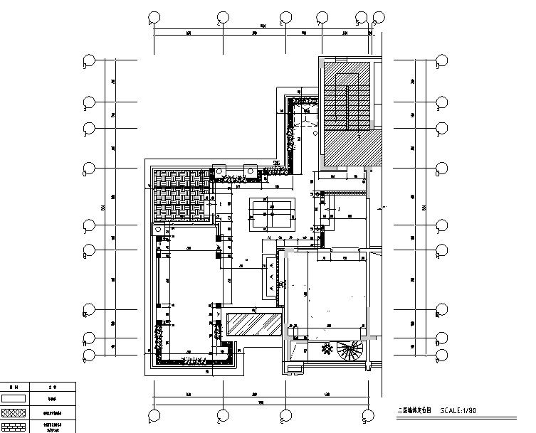 [辽宁]蓝白基调浪漫住宅空间设计施工图(附效果图)_2