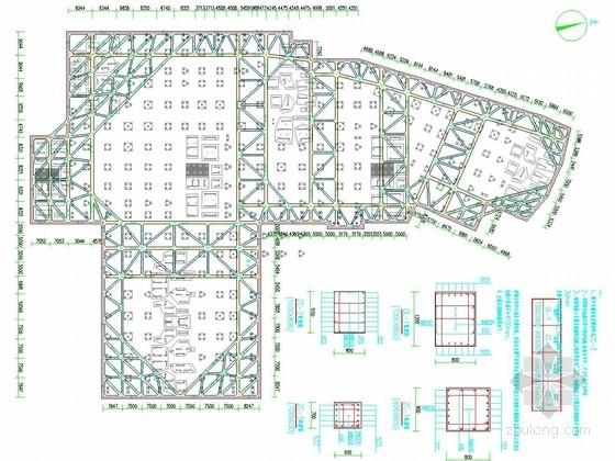 [湖北]12米深基坑排桩加一道混凝土支撑支护施工图