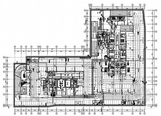 [上海]16万平商务办公综合体地下室给排水图纸( 太阳能热水 中水系统)