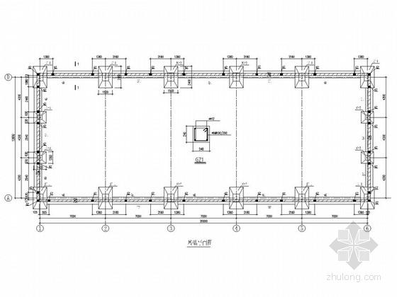 门式钢架结构生物科技产业园结构施工图(6栋厂房)