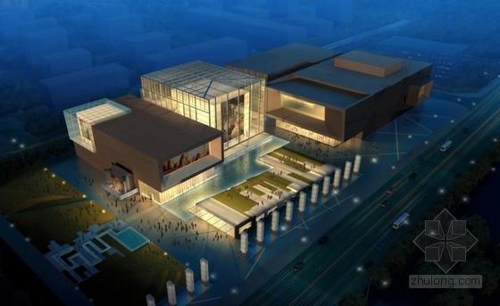 [陕西]多层现代风格市级文化艺术中心建筑设计方案文本(知名设计院)