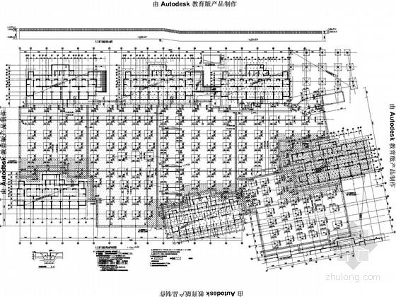 [合肥]公租房小区商住楼施工图(地库、11栋楼284张)