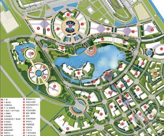 上海市国际赛车配套区概念性城市规划设计