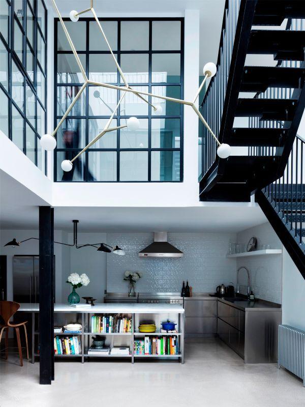伦敦:服装厂改建的通透住宅_4